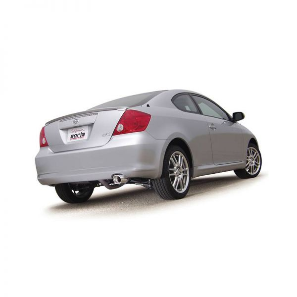 BORLA AXLE-BACK EXHAUST S-TYPE FOR 2005-2010 SCION TC 2.4L 4 CYL. AUTOMATIC/ MANUAL TRANSMISSION FRONT WHEEL DRIVE 2 DOOR.