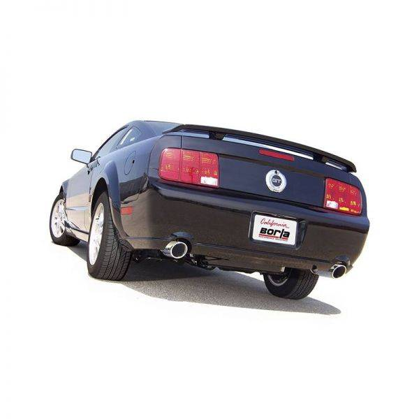 BORLA AXLE-BACK EXHAUST TOURING FOR 2005-2009 FORD MUSTANG GT 4.6L V8/ 2007-2009 FORD MUSTANG SHELBY GT500 5.4L V8 SUPERCHARGED AUTOMATIC/ MANUAL TRANSMISSION REAR WHEEL DRIVE 2 DOOR COUPE/ CONVERTIBLE.