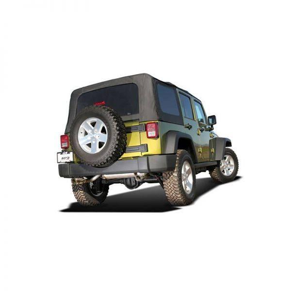 BORLA  AXLE-BACK EXHAUST TOURING FOR 2007-2011 JEEP WRANGLER JK/ JKU 3.8L V6 AUTOMATIC/ MANUAL TRANSMISSION 2, 4 WHEEL DRIVE 2, 4 DOOR.