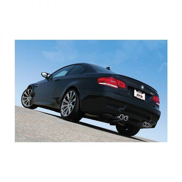 BORLA AXLE-BACK EXHAUST S-TYPE FOR 2008-2013 BMW E92 M3 COUPE 4.0L V8 AUTOMATIC/ MANUAL TRANSMISSION REAR WHEEL DRIVE 2 DOOR.