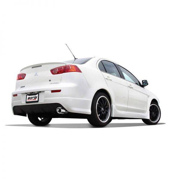 BORLA AXLE-BACK EXHAUST S-TYPE FOR 2008-2011 MITSUBISHI LANCER 2.0L/ 2.4L 4 CYL. AUTOMATIC/ MANUAL TRANSMISSION FRONT WHEEL DRIVE 4 DOOR.