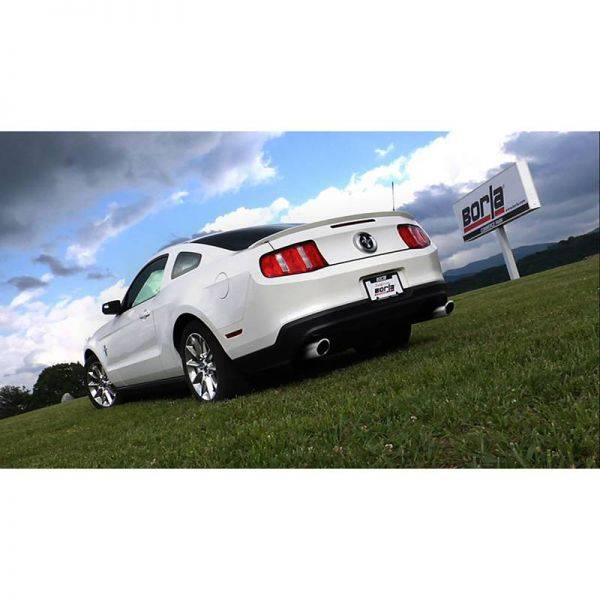 BORLA AXLE-BACK EXHAUST TOURING FOR 2011-2014 FORD MUSTANG 3.7L V6 AUTOMATIC/ MANUAL TRANSMISSION REAR WHEEL DRIVE 2 DOOR COUPE/ CONVERTIBLE.