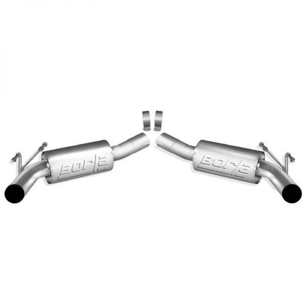 BORLA AXLE-BACK EXHAUST ATAK® FOR 2010-2013 CHEVROLET CAMARO SS 6.2L V8 AUTOMATIC/ MANUAL TRANSMISSION REAR WHEEL DRIVE 2 DOOR COUPE/ CONVERTIBLE W/GROUND EFFECTS PACKAGE (GFX)
