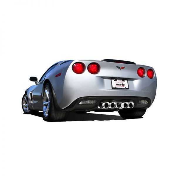 BORLA AXLE-BACK EXHAUST S-TYPE II FOR 2009-2013 CHEVROLET CORVETTE (C6) 6.2L V8 AUTOMATIC/ MANUAL TRANSMISSION REAR WHEEL DRIVE 2 DOOR COUPE/ CONVERTIBLE.
