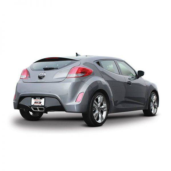BORLA AXLE-BACK EXHAUST S-TYPE FOR 2012-2018 HYUNDAI VELOSTER 1.6L 4 CYL. AUTOMATIC/ MANUAL TRANSMISSION FRONT WHEEL DRIVE 2 DOOR.