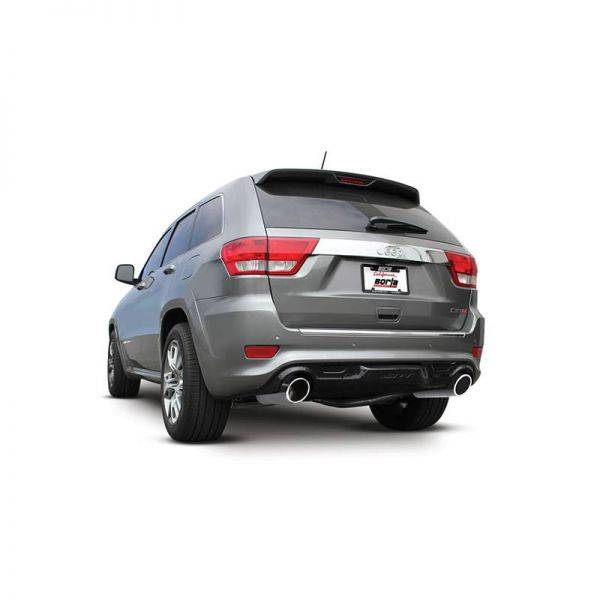 BORLA AXLE-BACK EXHAUST S-TYPE FOR 2012-2014 JEEP GRAND CHEROKEE SRT-8 6.4L V8 AUTOMATIC TRANSMISSION ALL WHEEL DRIVE 4 DOOR.