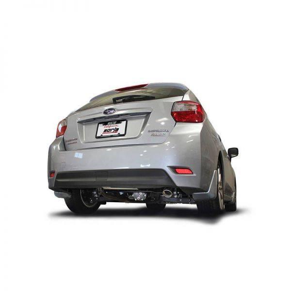 BORLA AXLE-BACK EXHAUST S-TYPE FOR 2013-2016 SUBARU IMPREZA/ 2013-2017 XV CROSSTREK 2.0L 4 CYL. AUTOMATIC/ MANUAL TRANSMISSION ALL WHEEL DRIVE 5 DOOR.