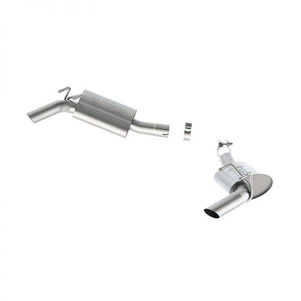 BORLA AXLE-BACK EXHAUST TOURING FOR 2014-2015 CHEVROLET CAMARO SS 6.2L V8 AUTOMATIC/ MANUAL TRANSMISSION REAR WHEEL DRIVE 2 DOOR WITH FACTORY GROUND EFFECTS PACKAGE.