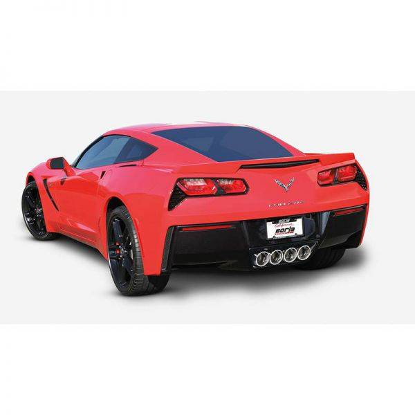 BORLA AXLE-BACK EXHAUST ATAK® FOR 2014-2019 CHEVROLET CORVETTE (C7) 6.2L V8 AUTOMATIC/ MANUAL TRANSMISSION REAR WHEEL DRIVE 2 DOOR WITH AFM WITH NPP DUAL MODE EXHAUST. EXCEPT GRAND SPORT WITH MANUAL TRANSMISSION.