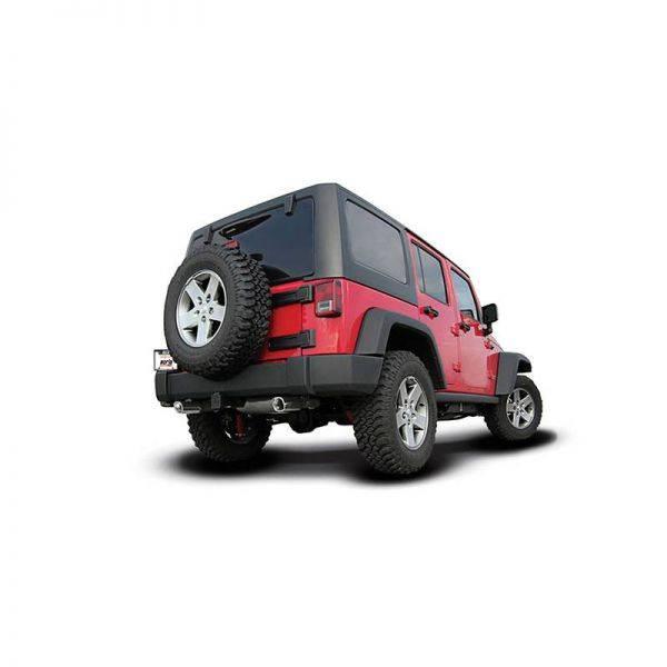 BORLA AXLE-BACK EXHAUST ATAK® FOR 2012-2018 JEEP WRANGLER JK/ JKU 3.6L AUTOMATIC/ MANUAL TRANSMISSION 4 WHEEL DRIVE 2 & 4 DOOR.