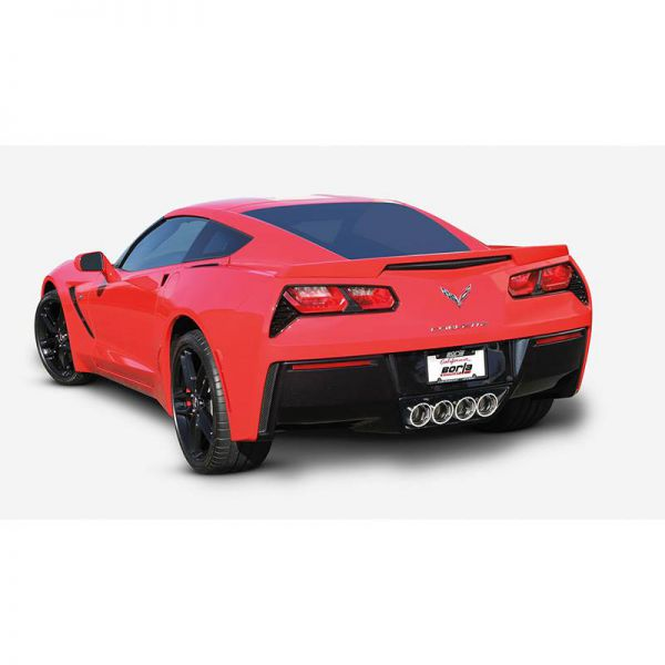 BORLA AXLE-BACK EXHAUST S-TYPE FOR 2014-2019 CHEVROLET CORVETTE (C7) 6.2L V8 AUTOMATIC/ MANUAL TRANSMISSION REAR WHEEL DRIVE 2 DOOR WITHOUT AFM WITHOUT NPP DUAL MODE EXHAUST.