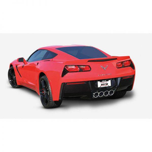 BORLA AXLE-BACK EXHAUST ATAK® FOR 2014-2019 CHEVROLET CORVETTE (C7) 6.2L V8 AUTOMATIC/ MANUAL TRANSMISSION REAR WHEEL DRIVE 2 DOOR WITH AFM WITH NPP DUAL MODE EXHAUST.