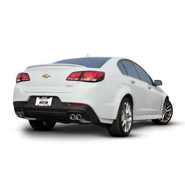 BORLA AXLE-BACK EXHAUST S-TYPE FOR 2014-2017 CHEVROLET SS 6.2L V8 AUTOMATIC TRANSMISSION REAR WHEEL DRIVE 4 DOOR.