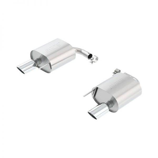 BORLA AXLE-BACK EXHAUST S-TYPE FOR 2015-2020 FORD MUSTANG 2.3L 4 CYL. ECOBOOST/  3.7L V6, AUTOMATIC/ MANUAL TRANSMISSION REAR WHEEL DRIVE 2 DOOR EXCEPT CONVERTIBLE AND ACTIVE EXHAUST SYSTEMS (4 TIPS).