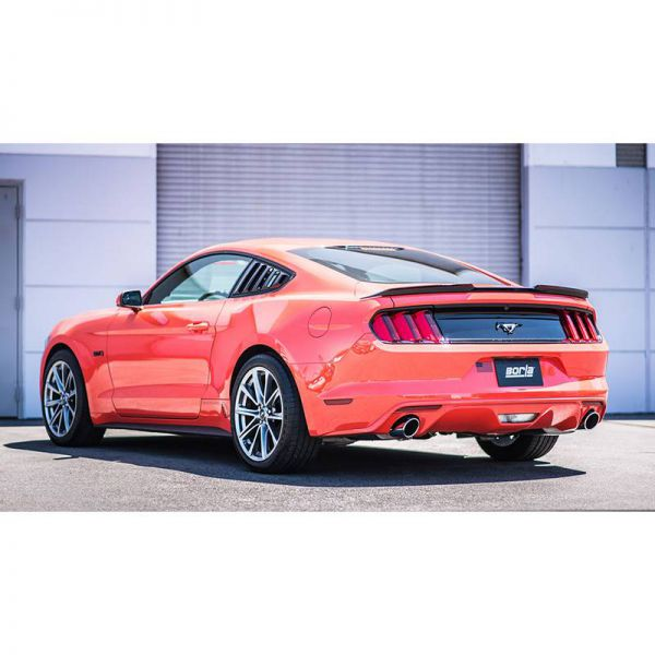 BORLA AXLE-BACK EXHAUST ATAK® FOR 2015-2020 FORD MUSTANG 2.3L 4 CYL. ECOBOOST/ 3.7L V6, AUTOMATIC/ MANUAL TRANSMISSION REAR WHEEL DRIVE 2 DOOR EXCEPT CONVERTIBLE AND ACTIVE EXHAUST SYSTEMS (4 TIPS).