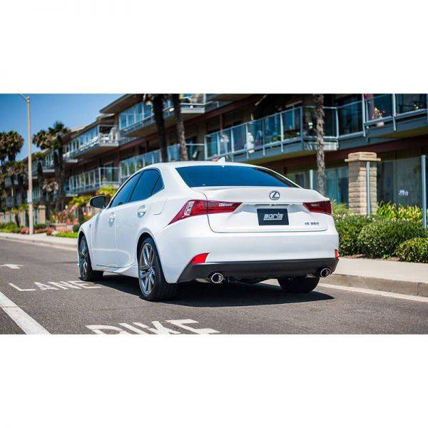 BORLA AXLE-BACK EXHAUST S-TYPE FOR 2014-2017 LEXUS IS 250/ IS 350 2.5L V6/ 3.5L.V6 AUTOMATIC/ MANUAL TRANSMISSION REAR WHEEL DRIVE 4 DOOR.