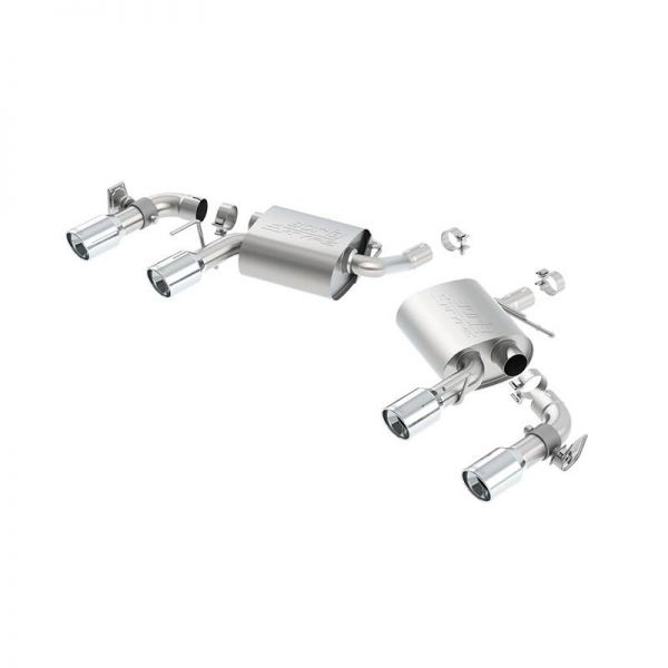 BORLA AXLE-BACK EXHAUST S-TYPE FOR 2016-2021 CHEVROLET CAMARO 3.6L V6 AUTOMATIC/ MANUAL TRANSMISSION REAR WHEEL DRIVE 2 DOOR