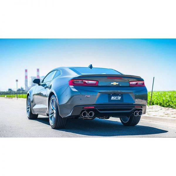 BORLA AXLE-BACK EXHAUST ATAK® FOR 2016-2021 CHEVROLET CAMARO 3.6L V6 AUTOMATIC/MANUAL TRANSMISSION REAR WHEEL DRIVE 2 DOOR WITH DUAL MODE EXHAUST (NPP).