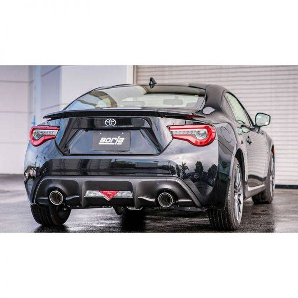 BORLA AXLE-BACK EXHAUST TOURING FOR 2017-2020 SUBARU BRZ/ TOYOTA 86 2.0L 4 CYL. AUTOMATIC/ MANUAL TRANSMISSION REAR WHEEL DRIVE 2 DOOR.